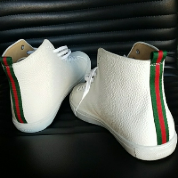 d2985e362 Gucci Shoes | Mens Tiger Hightop Sneakers White | Poshmark